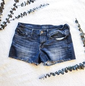 LUCKY The Cut Off Denim Shorts Dark Wash 8/29